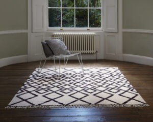 Hackney Diamond Mono rug